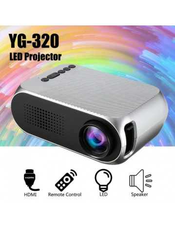 YG320 HD 1080P LED Projector Mini Pocket 3D Home Theater