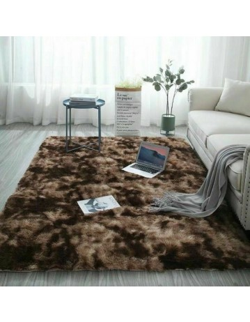 Rectangular Carpet Faux Fur Bedroom Mat