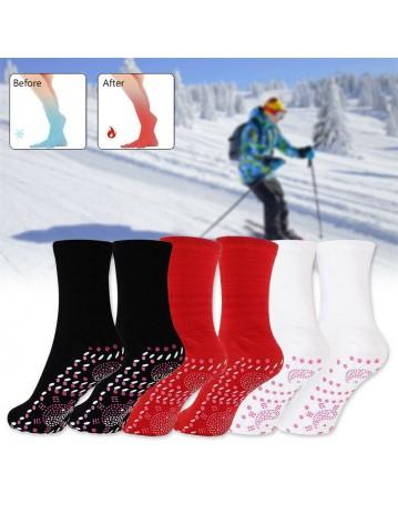 Self Heating Magnetic Tourmaline Therapy Health Socks