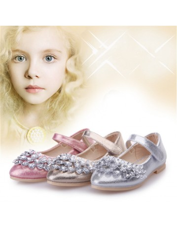 Girls Crystal Princess Shoes
