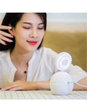 Humidifier Fan Mini Portable Rechargeable USB Fan