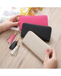 Fashion Genuine Leather Women Long Purse