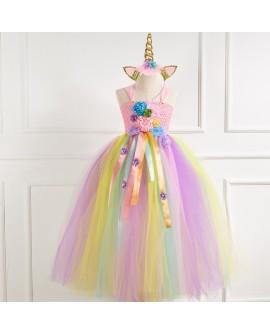 Flower Unicorn Princess Dress
