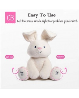 Peek a boo Bunny Speaking Rabbit Plush Toys