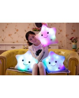 LED Light Five-pointed Star Pillow