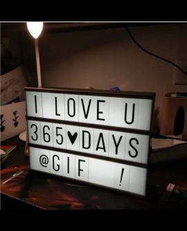 Light-Up Message Lightbox