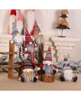 Sitting and long-legged Forest Man Christmas Tree Decorations