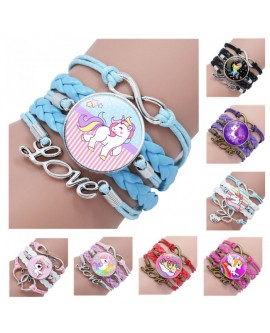Unicorn Time Gem Braided Bracelet