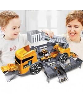 Deformation Fire Truck Parking Lot Storage Toy