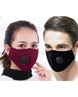 Cotton Face Mask with Valve and 11 Filters
