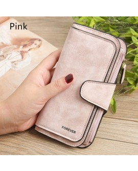 Long Buckle Three Fold Fashion Women Wallet