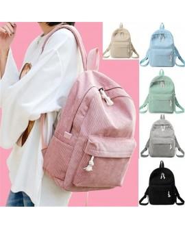 School Backpack Kawaii Corduroy Bookbag