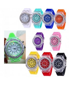 Multicolor Luminous Quartz Watch