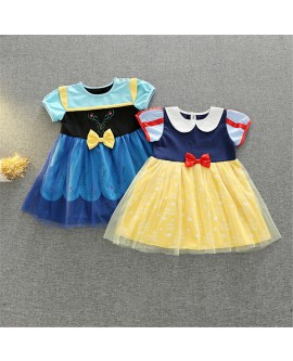 Short Sleeve Girl Princess Dresses