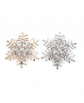 High-grade Snowflake Rhinestone Brooch