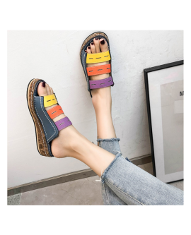 Summer Ladies Slippers Low Heel Sandals