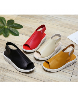 Platform Comfort Velcro Sandals