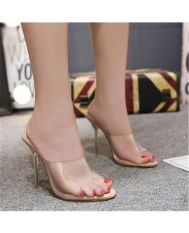 Jelly Sandals Open Toe High Heels