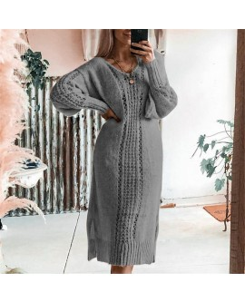 Women Casual Warm Sweater Dress