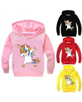 Kids Cartoon Unicorn Hoodies