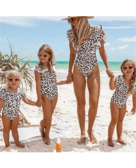 Mother and Daughter Leopard Swimsuit