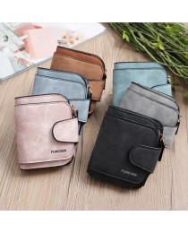 Vintage Leather Three Fold Women Wallets