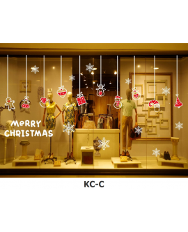 Christmas New Year Home Store Window Decoration Sticker