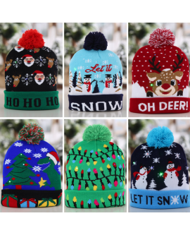 Unisex Christmas Warm Knitted Hat