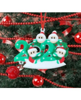 Customisable Santa 2020 Christmas Decoration with Bell