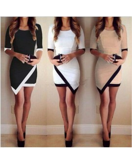 Fashion Women Bandage Bodycon Half Sleeve Evening Sexy Party Cocktail Mini Dress