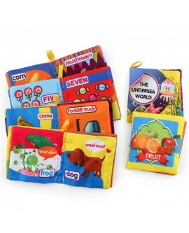 Baby Kids Intelligence Cognition Learning Cartoon Cloth Book
