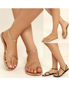 Fashion Casual Summer Women Rope Sandals Flat Casual Shoes