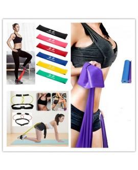 Elastic Yoga Pilates Rubber Stretch Fitness Band Belt Sets