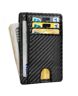Men Carbon Fiber Credit Card Holder