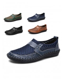 Men Crocodile Breathable Casual Shoes