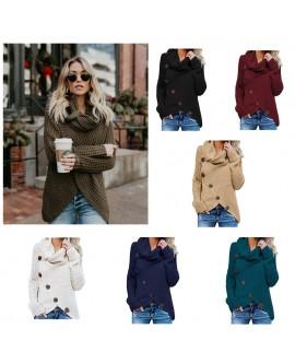 Women Diagonal Buckle Sweater