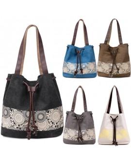 Women Ladies Canvas Summer Beach Tote Bag