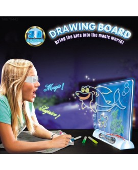 Drawing Board 3D Glasses Led Lamp Holder