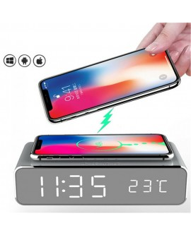 Multi-function Desktop Alarm Clock Wireless Charger