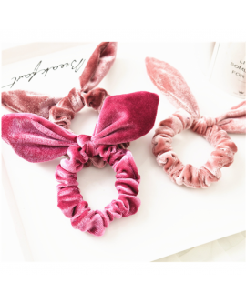 Rabbit Ears Velvet Elastic Headband