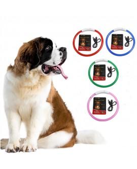 Rechargeable LED Luminous USB Pet Dog Neck Collar