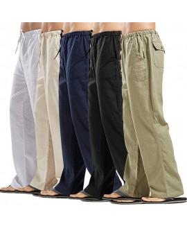 Linen Men's Plus Size Casual Pants